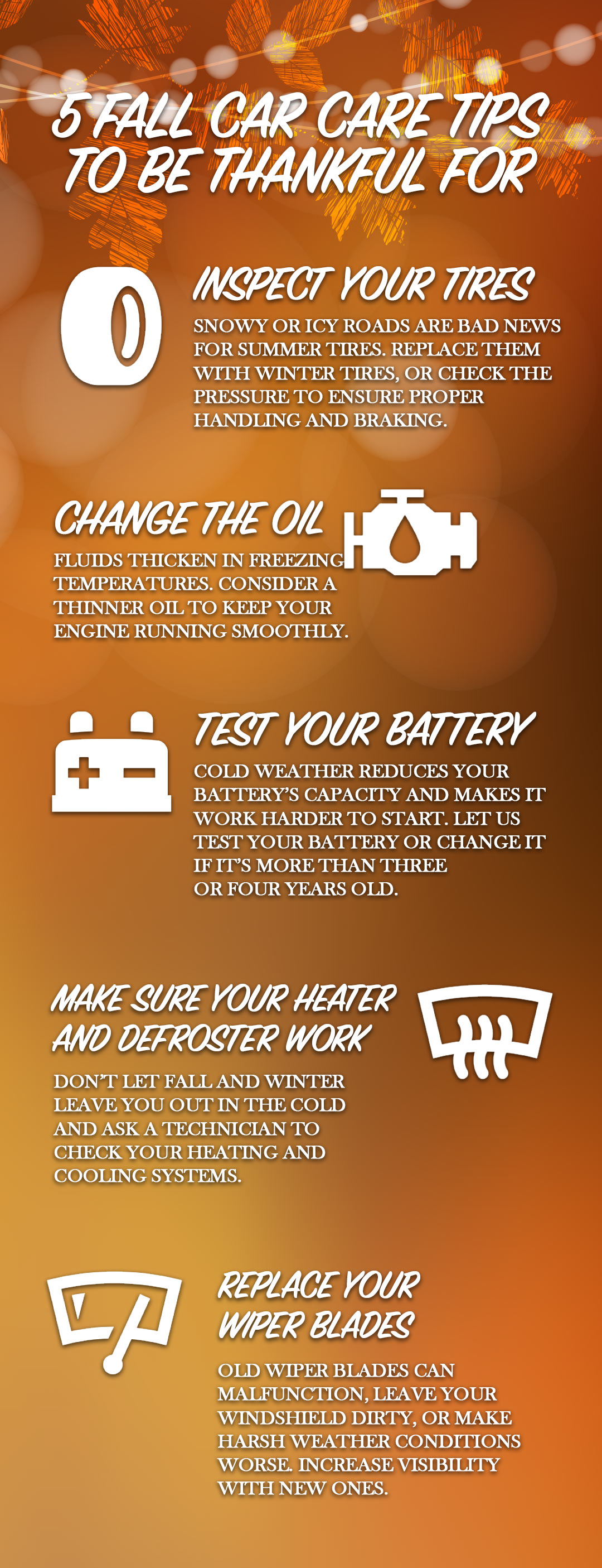 Fall Car Care Infographics